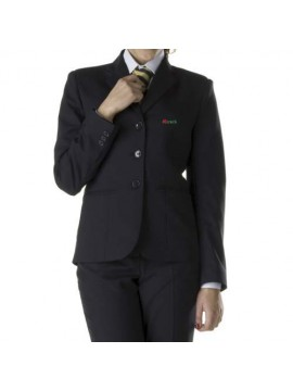 blue uniform suit for receptionist